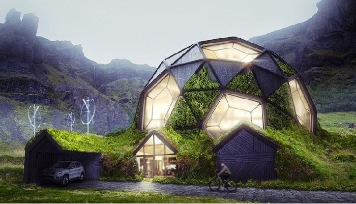 Концепт преображения торфяных домов-землянок, в которых жили некоторые исландцы до середины XX века. | Фото: boredpanda.com.