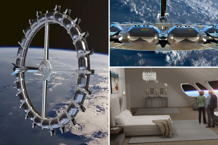 К 2025 году орбитальный космический отель  уже будет готов принять  первую сотню гостей (концепт отеля Von Braun Space Station). | Фото: thesun.co.uk.