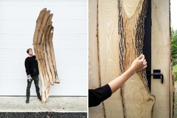Сборкой деревянного каркаса занимались студенты архитектурного отделения Корнелльского университета (Ashen Cabin, Итака). | Фото: inhabitat.com.