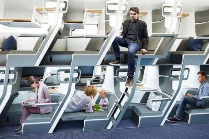 Любые действия пассажиров второго яруса никак не повлияют на спокойствие тех, кто находится внизу. | Фото: msn.com/ © Zephyr Aerospace.
