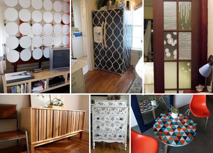 Оклеивать можно любые поверхности, как мебели, так и бытовой техники. | Фото: nevsedoma.com.ua.