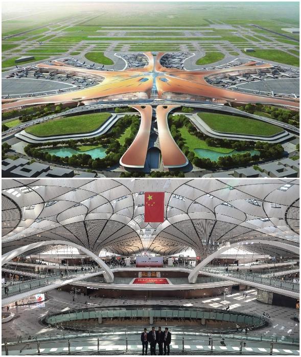 Пекинский международный аэропорт Дасин – впечатляющая воздушная гавань будущего (Китай).