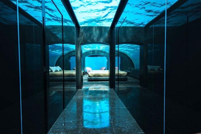 Подводная часть виллы Muraka (Мальдивы).