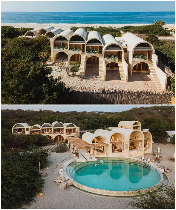 В Мексике открылся колоритный бутик-отель, напоминающий арочные жилища людей древних цивилизаций.