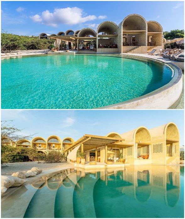 Гости отеля-бутика Casona Sforza могут наслаждаться водными развлечениями в бассейне с морской водой.