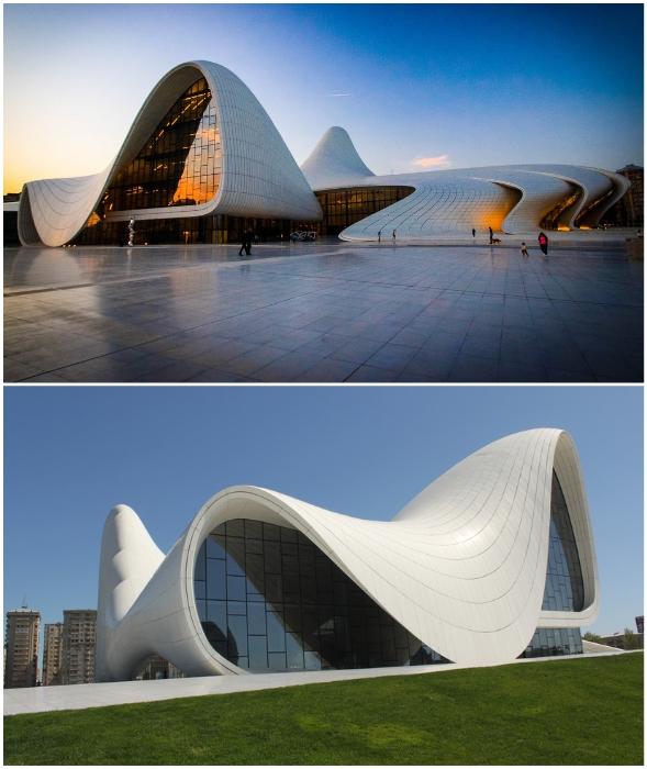 Культурный центр Гейдара Алиева – современная визитная карточка Баку (Азербайджан).