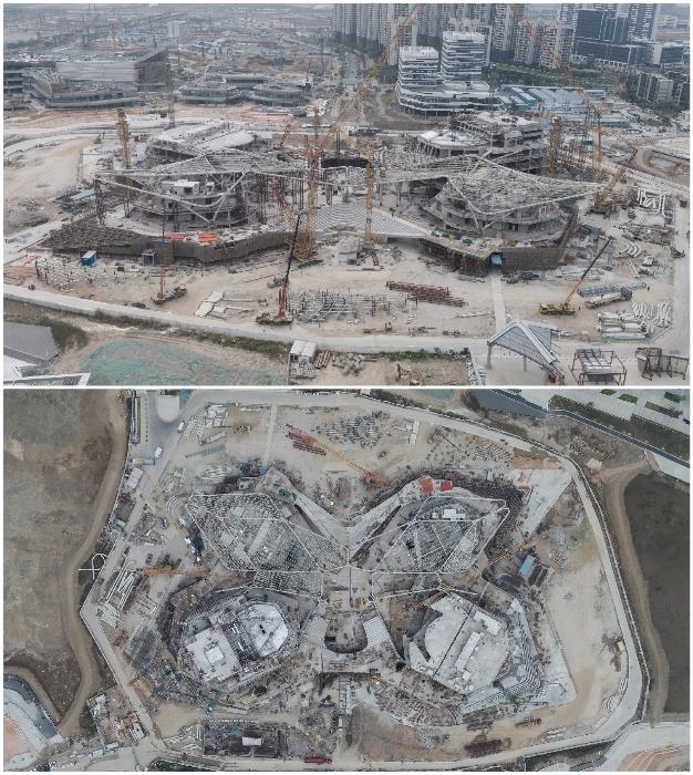 На данный момент строительство возобновилось (Чжухай, Китай). | Фото: dezeen.com.