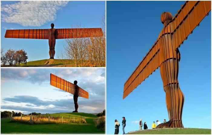 «The Angel of the North» – современная скульптура, созданная Энтони Гормли. | Фото: stranymira.com/ tripadvisor.com.