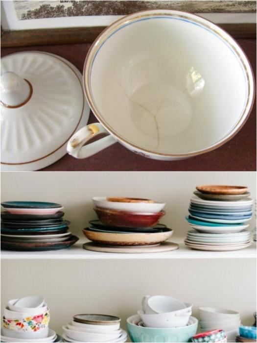 Треснувшая или «разношерстная» посуда недопустима на кухне любой хозяйки. | Фото: rodeland.livejournal.com/ rus.delfi.lv.