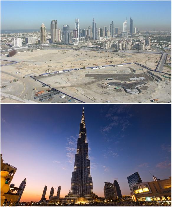 Строительство началось в декабре 2005 г., а вот так он выглядел уже 2010 г. (Дубаи). | Фото: varlamov.ru.
