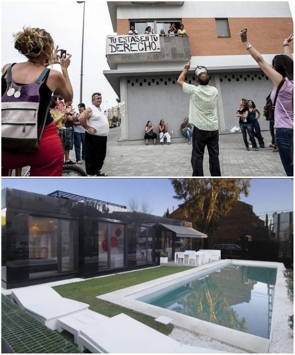 Обнаглевшие «окупас» в Испании захватывали и квартиры и роскошные особняки. | Фото: pikabu.ru.
