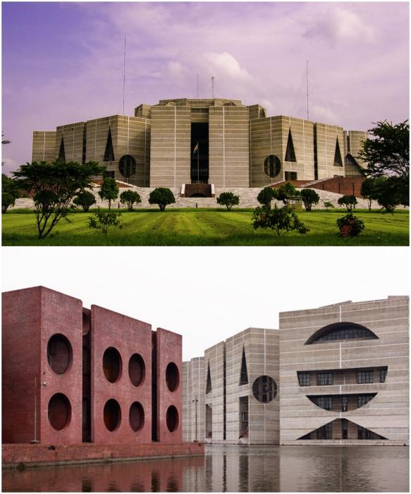 До сих пор комплекс Национальной Ассамблеи считается одним из красивейших в мире и является главной достопримечательностью Дакки (Бангладеш). | Фото: commons.wikimedia.org.
