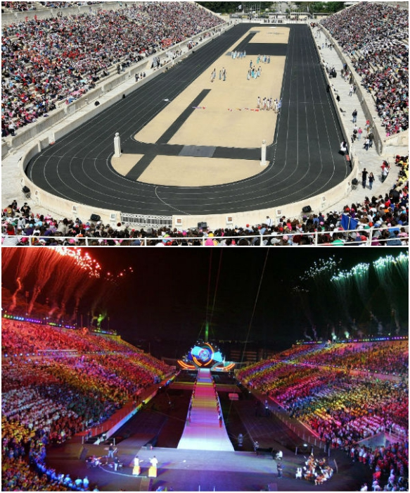 До сих пор стадион Панатинаикос остается одной из главных спортивных арен Афин (Греция). | Фото: gidvgreece.com.