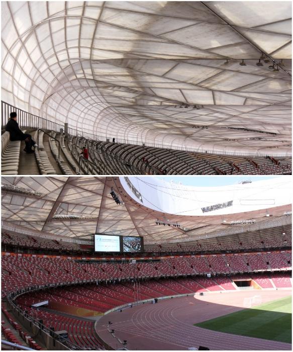 Крыша олимпийского стадиона сделана из полимеров нового поколения (National Stadium, Пекин). | Фото: news.taj/ pinterest.cl.