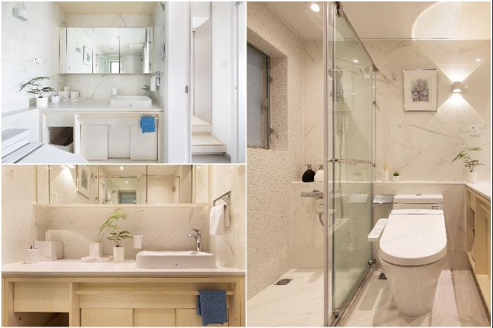 Объединение ванной комнаты и санузла помогло сэкономить пространство (Smart Zendo). | Фото: sim-plex-design.com/ © Sim-Plex.