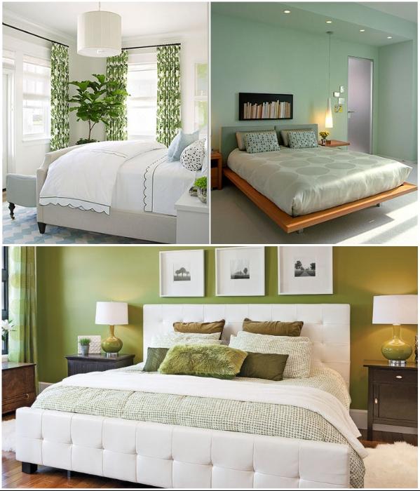Потрясающий дизайн спален в зеленых тонах. | Фото: odomah.info/vfmiit.ru.