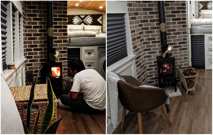Дровяная печь с живым огнем создаст особую атмосферу домашнего уюта. | Фото: facebook.com/ © Going Boundless.