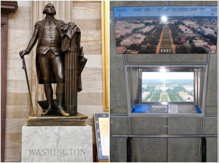 На самой верхушке обелиска расположена смотровая площадка (монумент Джорджу Вашингтону, США). | Фото: theenchantedmanor.com/ natalbmikhalna-liveJournal.