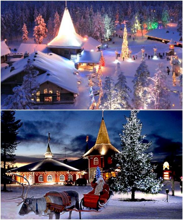 Деревня Санта-Клауса во время Рождества больше похожа на настоящий парк развлечений (Рованиеми, Финляндия). | Фото: hottours.in.ua/ svetlanatravel.com.