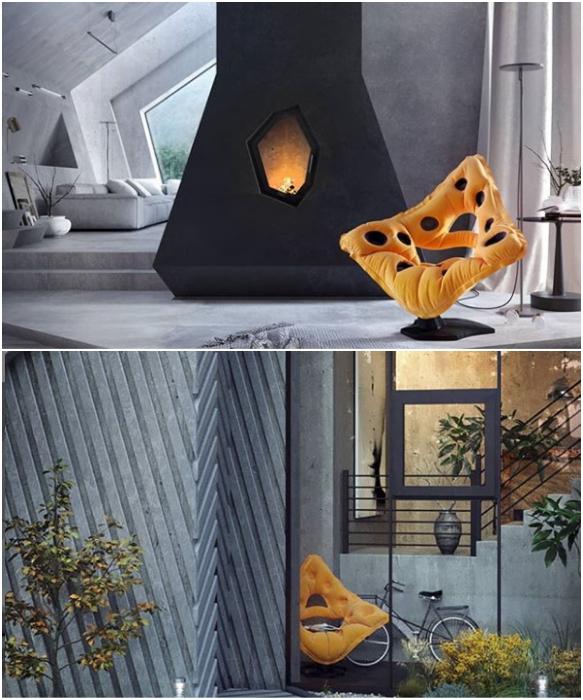 Необычный экстерьер, дизайнерский интерьер и предметы мебели в Pentahouse (концепт Karina Wiciak).   Фото: instagram.com/ wamhouse.