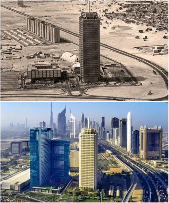 Всемирный Торговый центр свободной экономической зоны 1986 и 2012 гг. (Дубаи, ОАЭ). | Фото: chatru.com/ thrillophilia.com.