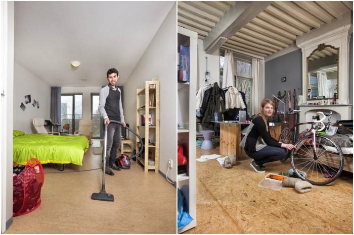 Комнаты студентов в общежитиях университетов Нидерландов. | Фото: osvitanova.com.ua/ © Henny Boogert.