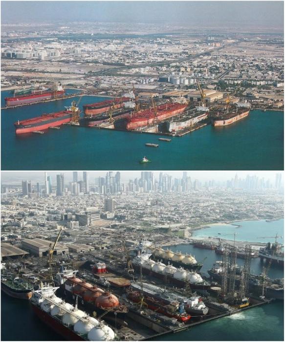 Сухой док в Дубаи (Dubai drydocks) – прошло лишь 20 лет. | Фото: reddit.com/ careers.drydocks.gov.ae.