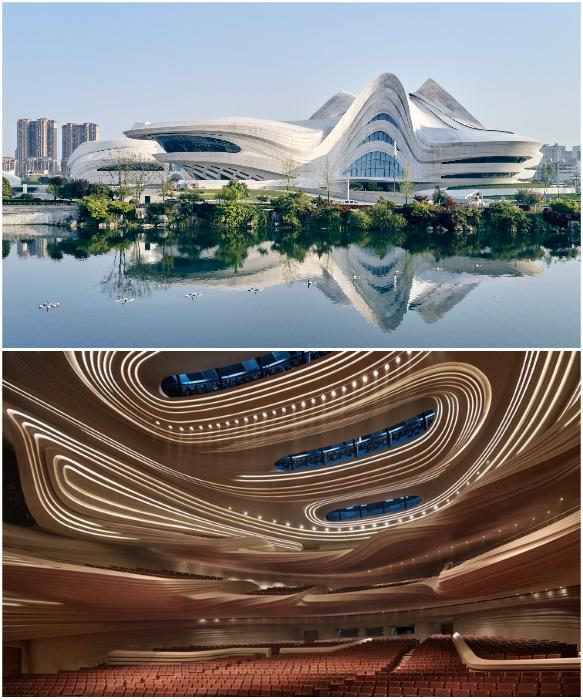 Большой театр ансамбля «Мэйсиху» может вместить 1800 человек (Чанши, Китай). | Фото: newatlas.com /© Virgile Simon Bertrand.