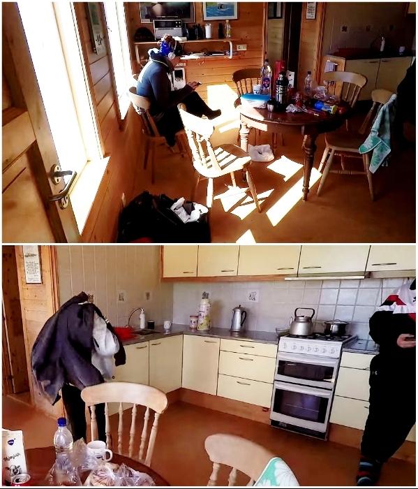 Туристы могут пользоваться столовой, кухней и санузлом (о. Эдлидаэй, Исландия). | Фото: youtube.com/ © Torz Film.