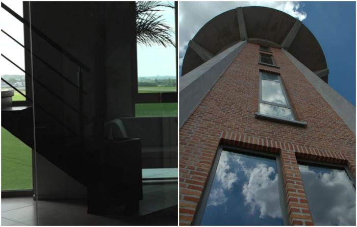 Чтобы в башне было светлее, пришлось увеличивать площадь и количество окон («Chateau d'Eau», Steenokkerzeel). | Фото: youtube.com/ © Kirsten Dirksen.