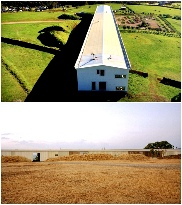 Частный дом длиной 110 м: теперь под одной крышей – жилье, ресторан, сарай и даже грядки с овощами («Longhouse», Австралия).