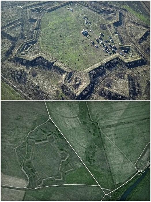 Крепость Св. Анны имеет форму шестиугольника с 6 укрепленными фортами по углам. | Фото: youtube.com/ yaplakal.com.