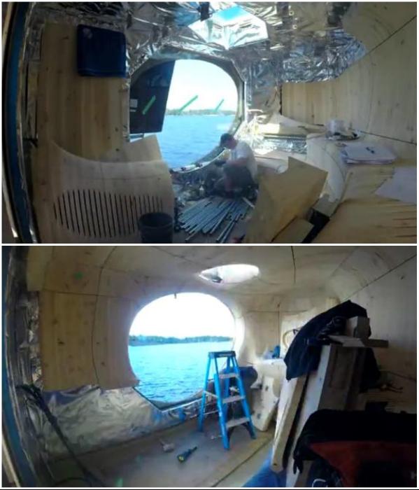 Для утепления сооружения сделали прослойку из воздуха и алюминиевой фольги («Grotto», Канада). / Фото: dombrus.org.ua.