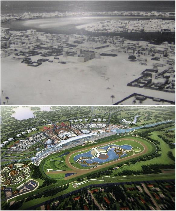 В 50-х г. прошлого века так выглядел весь город, а теперь только ипподром Мейдан (Дубай). foto-history.livejournal.com/ tournavigator.pro.