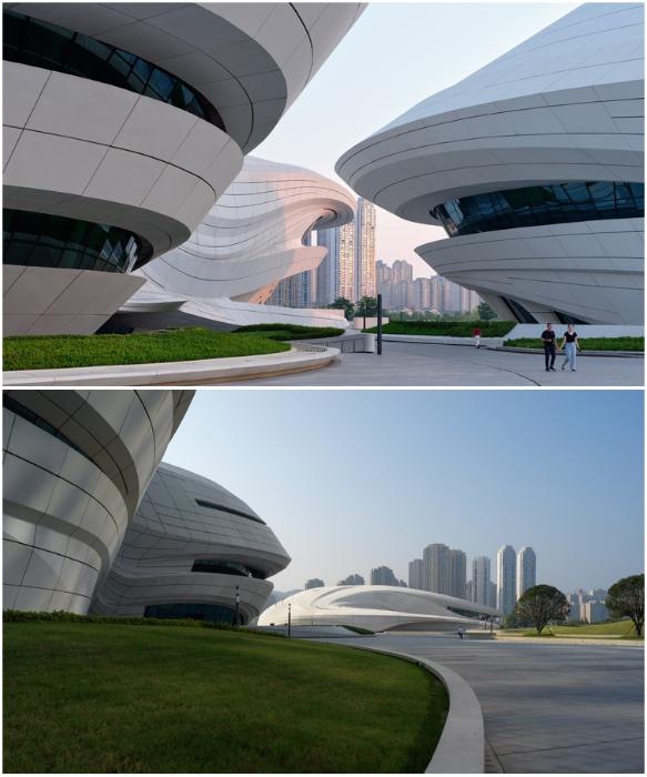 Пешеходные дорожки полностью повторяют очертания залов (Чанши, Китай). | Фото: architectsagainsthomelessness.com/ /© Virgile Simon Bertrand.