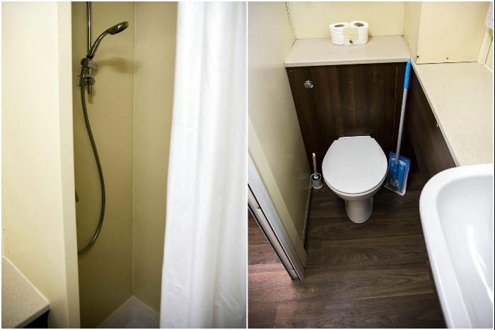 В каждой комнате-студии студенческого общежития есть душевая и туалет (Purbeck Court, Бристоль). | Фото: dailysunpost.com.