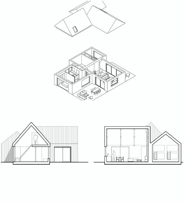 План-чертеж лесного домика «Villa Tonden» (Нидерланды). | Фото: dymontiger.livejournal.com.