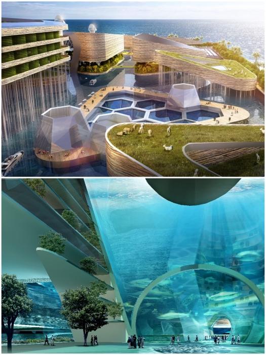 Концепт города будущего Eco Atlantis разработан известным архбюро AT Design Office. | Фото: budport.com.ua.