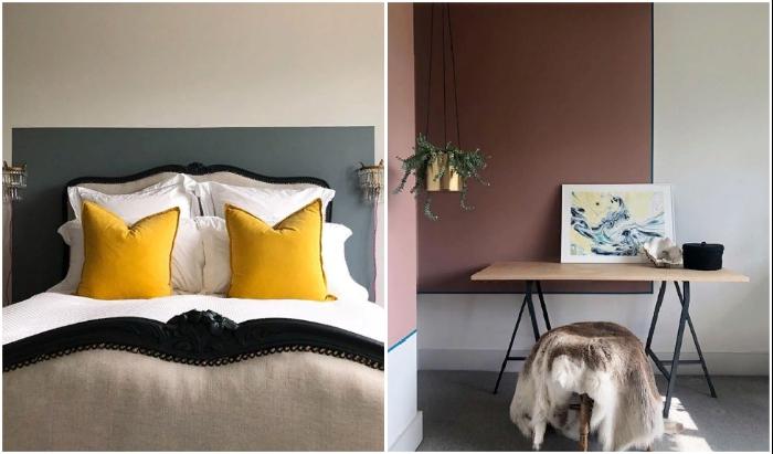 Нестандартное оформление акцентов в интерьере одной из спальных комнат и гостиной. © Michaela | The old piggery.