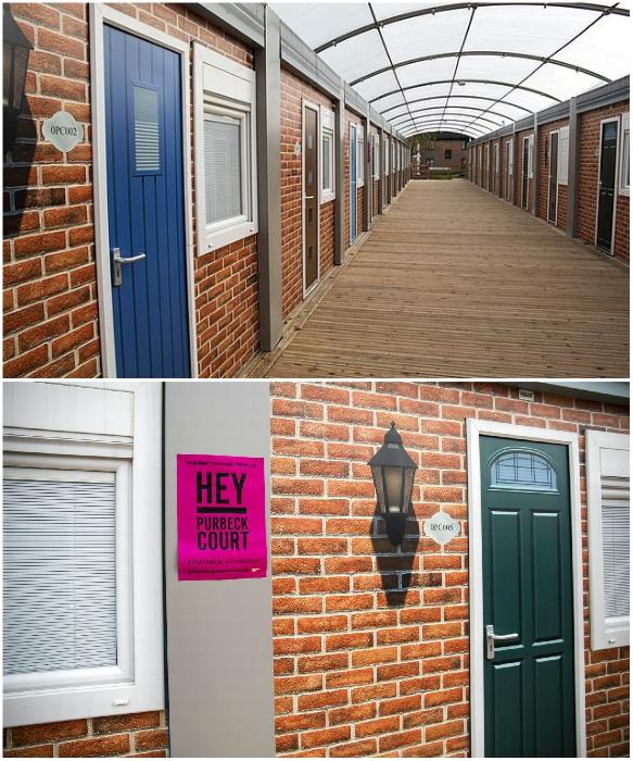 Каждая комната в общежитии Purbeck Court имеет отдельный вход (University of Bristol, Великобритания). | Фото: bristolpost.co.uk.
