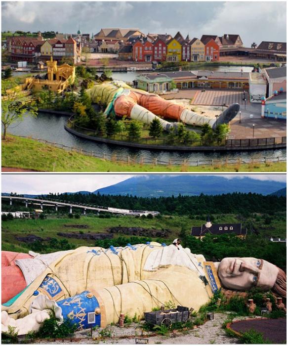 Тематический парк развлечений Gulliver's Kingdom был создан в стиле сказки о Гулливере (Япония). | Фото: anidub.com/ pixel.in.ua.