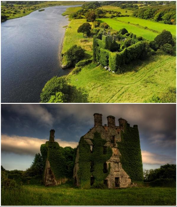 Menlo Castle – один из самых романтичных замков Ирландии привлекает толпы туристов даже живописными развалинами. | Фото: sobennov.ru/ dreamstime.com.