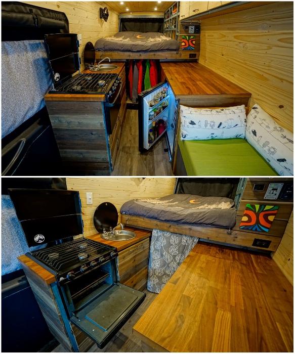 Кухня получилась вполне функциональной. | Фото: forums.mtbr.com.