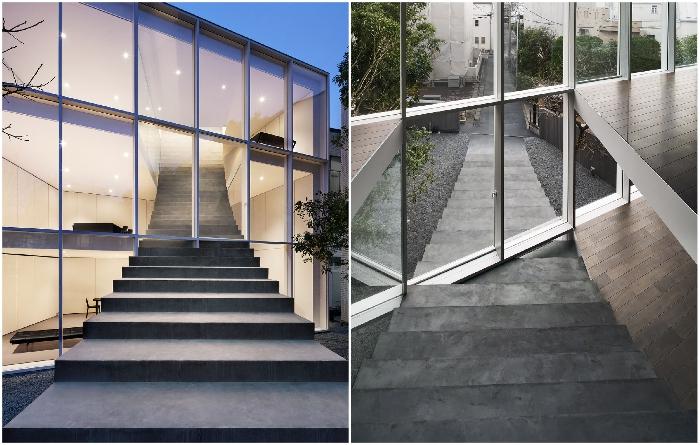 Резиденция получила название «Лестничный дом» (Токио, Япония). | Фото: worldarchitecture.org.