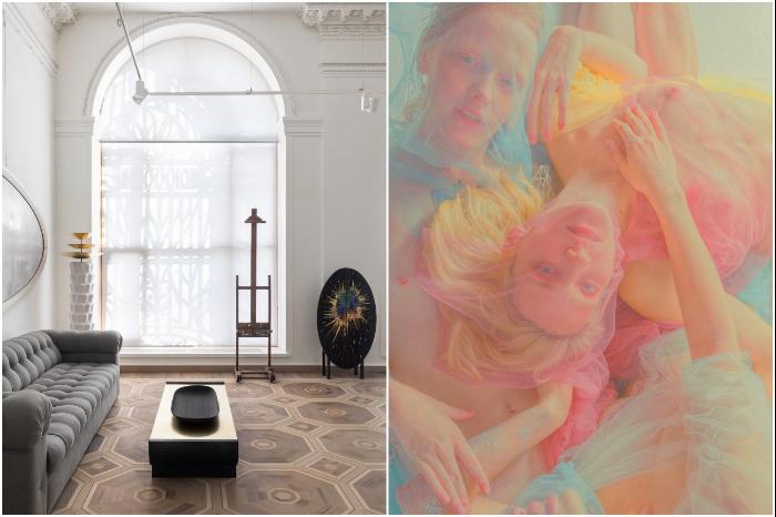 Владелица галереи предпочитает выставлять редкие и сделанные в одном экземпляре произведения. | Фото: elledecoration.ru/ peopletalk.ru.