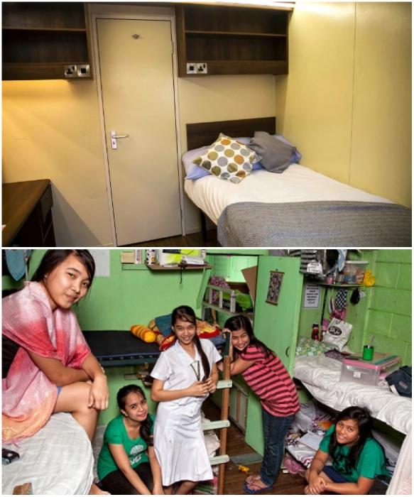 Все познается в сравнении (комнаты в общежитии University of Bristol Великобритании и Филиппин). | Фото: bristolpost.co.uk/ osvitanova.com.ua, © Henny Boogert.