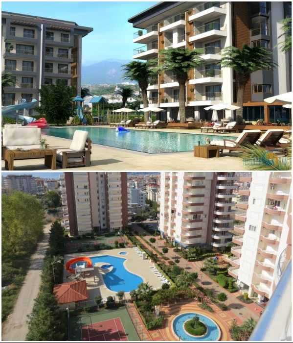 В последние годы на территории Турции строят только многофункциональные жилые комплексы. | Фото: turkeyforfriends.com/ ipropertyu.com.