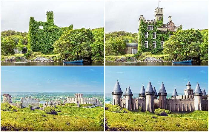 Компания Budget Direct, совместно с профессионалами создали цифровые реконструкции развалин самых известных средневековых замков Европы. | Фото: budgetdirect.com.au.