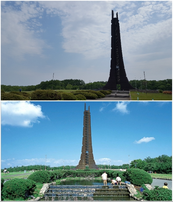 Высота башни составляет 100 м, что соответствует 100-летию (Centennial Memorial Tower, Япония). | Фото: commons.wikimedia.org/ whatscheaper.com.