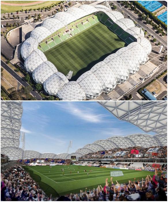 «Прямоугольный стадион» Мельбурна вмещает 30 тыс. зрителей (Австралия). | Фото: techvesti.ru/ ru.depositphotos.com.